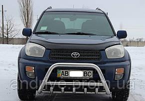 Кенгурятник с грилем (защита переднего бампера) Toyota RAV4 2000-2005