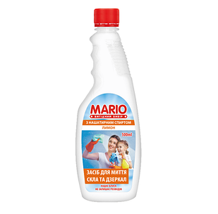 """Для стекла запаска """"Марио"""" 0,5л.Лимон (12шт. / Уп.)"""