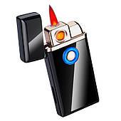 USB зажигалка Lighter ELEGANCE Матовая (2вида поджига/Индикатор газа)