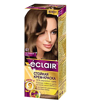"""Стойкая крем-краска для волос """"ECLAIR"""" OMEGA-9 67 Натуральный кофе"""