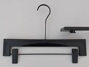 """Довжина 35,5 см. Плічка Premium серії """"Elegante"""" для штанів і спідниць чорного кольору, Mainetti Group Італія"""