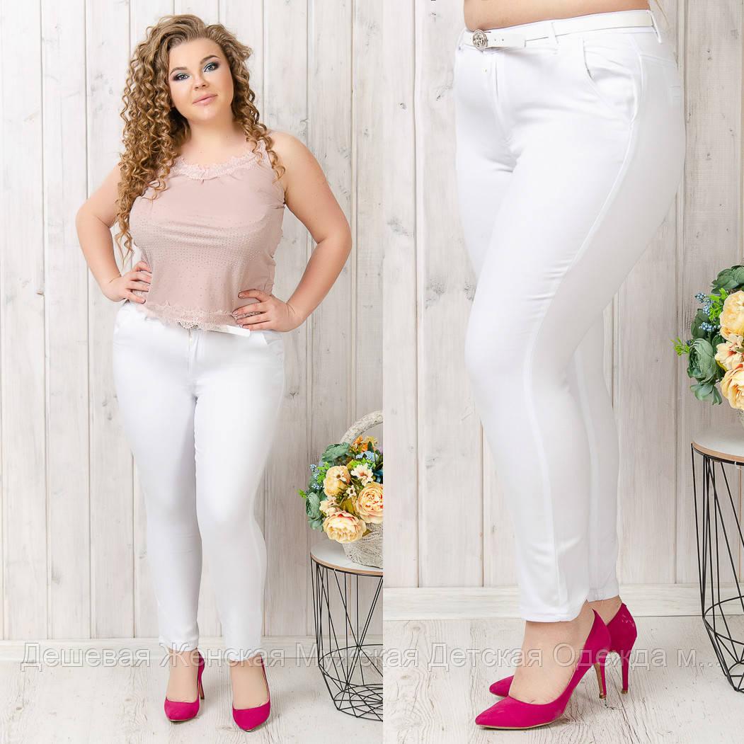 9788-02 білі (B) Moon girl штани жіночі батальні 7/8 весняні стрейчеві (31-42, 6 од.)