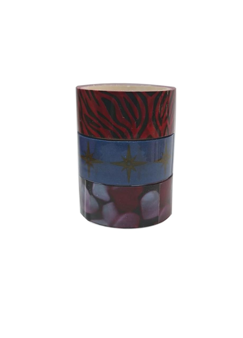 Набір декоративного скотчу (3шт) 3м Penny 1,5х300см Різнобарвний