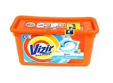 """Гель в капсулах """"Vizir"""" 38шт. для белого"""