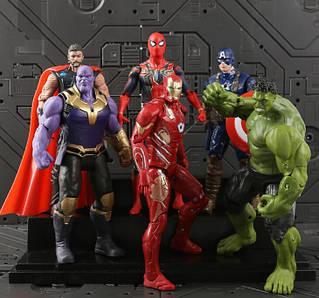 """Набір Фігурок з к/ф """"Месники: Війна нескінченності"""", Avengers, Infinity War, 6в1, 17СМ"""