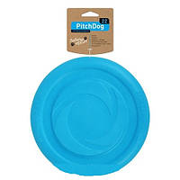Игровая тарелка для апортировки Collar PitchDog голубая, 24 см, 62472