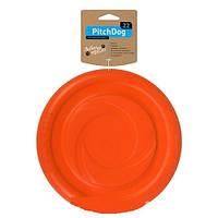 Игровая тарелка для апортировки Collar PitchDog оранжевая, 24 см, 62474