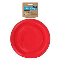 Игровая тарелка для апортировки Collar PitchDog розовая, 24 см, 62477