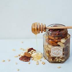 Мед с ореховым миксом