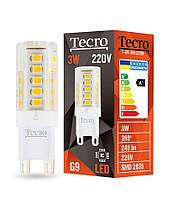 Лампа светодиодная Tecro LED 3Вт 240Лм G9 2700К тёплый свет (T-G9-3W-220V-2700K)