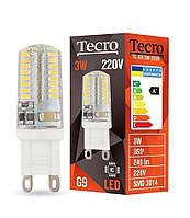 Лампа светодиодная Tecro LED 3Вт 240Лм G9 4100К нейтральный свет (TL-G9-3W-220V-4100K)