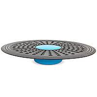 Диск балансировочный с регулировкой высоты BALANCE BOARD (пластик, d-41см, h-5,4см,6см,7см, вес-660гр, черный-голубой) PZ-FI-7214