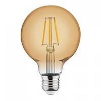 Лампа светодиодная филаментная Horoz Electric RUSTIC GLOBE-4 Filament LED 4Вт 360Лм Е27 2200К