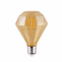 Лампа светодиодная филаментная Horoz Electric RUSTIC DIAMOND-4 Filament LED 4Вт 360Лм Е27 2200К