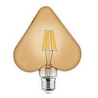 Лампа светодиодная филаментная Horoz Electric RUSTIC HEART-6 Filament LED 6Вт 540Лм Е27 2200К