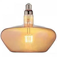 Лампа светодиодная Horoz Electric Filament Ginza Amber LED 8Вт 620Лм Е27 2400К тёплый свет (001-050-0008)