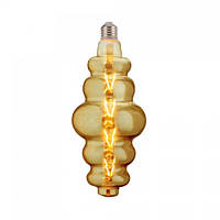 Лампа светодиодная филаментная Horoz Electric ORIGAMI Amber LED 8Вт 620Лм Е27 2200К тёплый свет (001-053-0008)