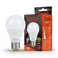 Лампа светодиодная Tecro LED 10Вт 810Лм E27 3000К тёплый свет (TL-A60-10W-3K-E27)