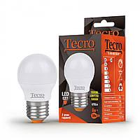 Лампа светодиодная Tecro LED 6Вт 470Лм E27 3000К тёплый свет (TL-G45-6W-3K-E27)