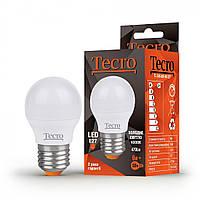 Лампа светодиодная Tecro LED 6Вт 470Лм E27 4000К холодный свет (TL-G45-6W-4K-E27)