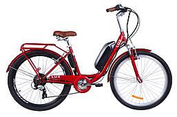 """Электровелосипед 26"""" LUX AM, 350Вт 36В, 10.4Ач, макс.пробег 40км, 40 км/ч (черный)"""