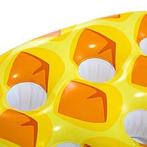 Надувной плавающий бар Intex 57505 с подстаканниками Ананас, 97 х 58 см, фото 2