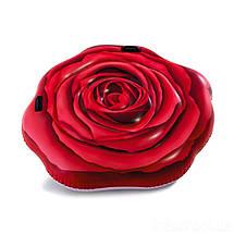 Надувний матрац Intex 58783 Червона троянда, 137 х 132 см, фото 3