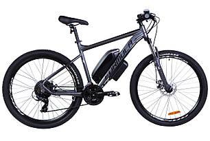 "Электровелосипед 27.5"" F-1 500Вт 36В редукт. задн.привод, 10.4Ач LG M2600 с крепл. на раму, прилож., макс.пробег 40км, 45 км/ч черно-бел.(м)"