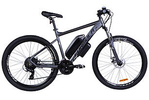 "Электровелосипед 27.5"" F-1 500Вт 36В редукт. задн.привод, 10.4Ач LG M2600 с крепл. на раму, прилож., макс.пробег 40км, 45 км/ч черно-бел.(м) (Графит)"
