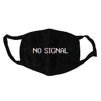 Маска тканевая Gee! Нет сигнала No signal чёрная MS 047
