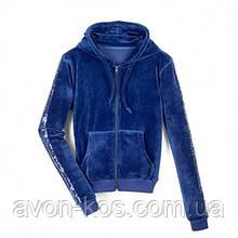 Женская толстовка  для активного отдыха синяя AVON 44-50