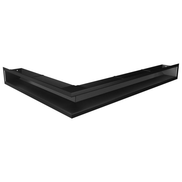 Вентиляційна решітка для каміна кутова права SAVEN Loft Angle 90х800х600 чорна