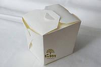 Пастабокс маленький, 400мл, с печать лого EcoBox