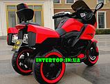 Дитячий триколісний електромотоцикл Tilly T-7224 червоний. Мотоцикл для дітей, фото 3