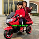 Дитячий триколісний електромотоцикл Tilly T-7224 червоний. Мотоцикл для дітей, фото 8
