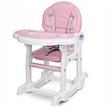 Детский стульчик для кормления трансформер Bambi M 1563-11 розовый. Дитячий стільчик для годування, фото 5