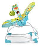 Дитячий підлоговий шезлонг-гойдалка з регульованою спинкою, Bambi 6904-1 салатовий. Дитяче крісло качалка, фото 5