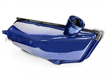 Бак топливный (Бензобак) на Мопед Дельта (Deltа) (синий) EVO