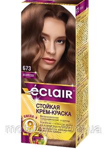 """Краска для волос Éclair с маслом """"OMEGA 9"""" 673 Эспрессо"""