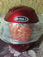 Мотошлем, Мотоциклетный шлем  трансформер (mod:688) (Размер:XL, красный) BINLI