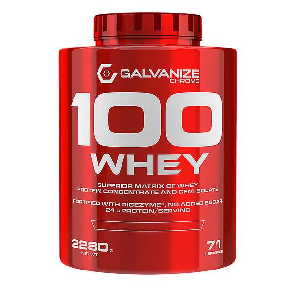 Протеин Galvanize Chrome 100% Whey, 2.28 кг Клубника-белый шоколад