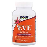 Витамины и минералы NOW EVE, 180 гелевых капсул