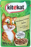 Влажный корм Kitekat (Китикет) пауч для кошек с курицей 100 г * 24 шт.