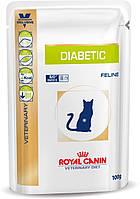 Влажный лечебный корм Royal Canin Diabetic Feline пауч для кошек 100 г *12 шт.