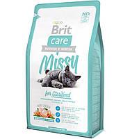 Сухой корм Brit (Брит) Care Cat MISSY Sterilised для стерилизованных кошек с курицей и рисом  7 кг