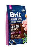 Сухой корм Brit (Брит) Premium Dog Junior S для щенков мелких пород с курицей  8 кг