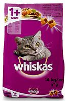 Сухой корм Whiskas (Вискас) 1+ для кошек с говядиной 14 кг