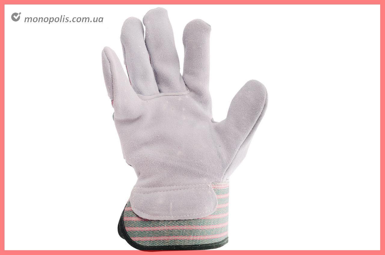 """Перчатки Intertool - замшевые комбинированные 27 см х 10,5"""" (зеленая)"""