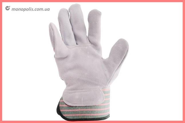 """Перчатки Intertool - замшевые комбинированные 27 см х 10,5"""" (зеленая), фото 2"""