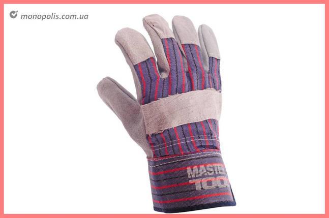 """Перчатки Mastertool - замшевые комбинированные, цельная ладонь 10,5"""", фото 2"""
